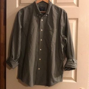 Abercrombie & Fitch army green button down. XXL